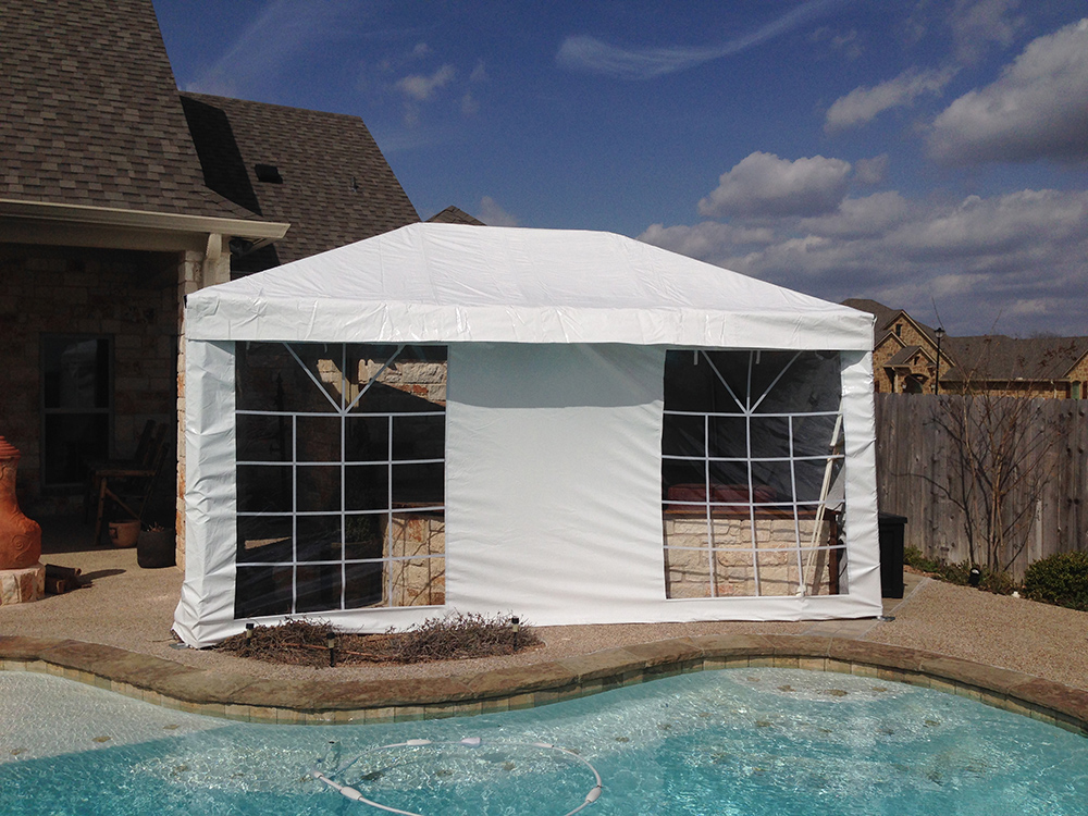 10x20 frame tent by pool