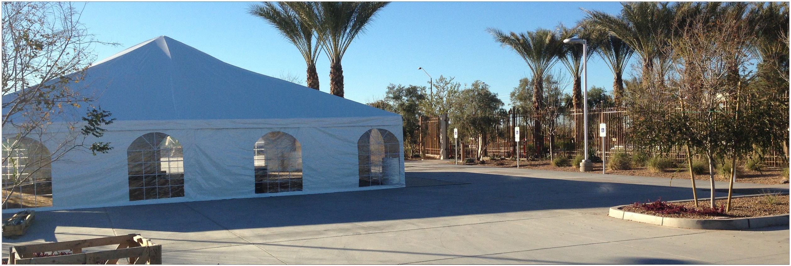 Frame type party tents