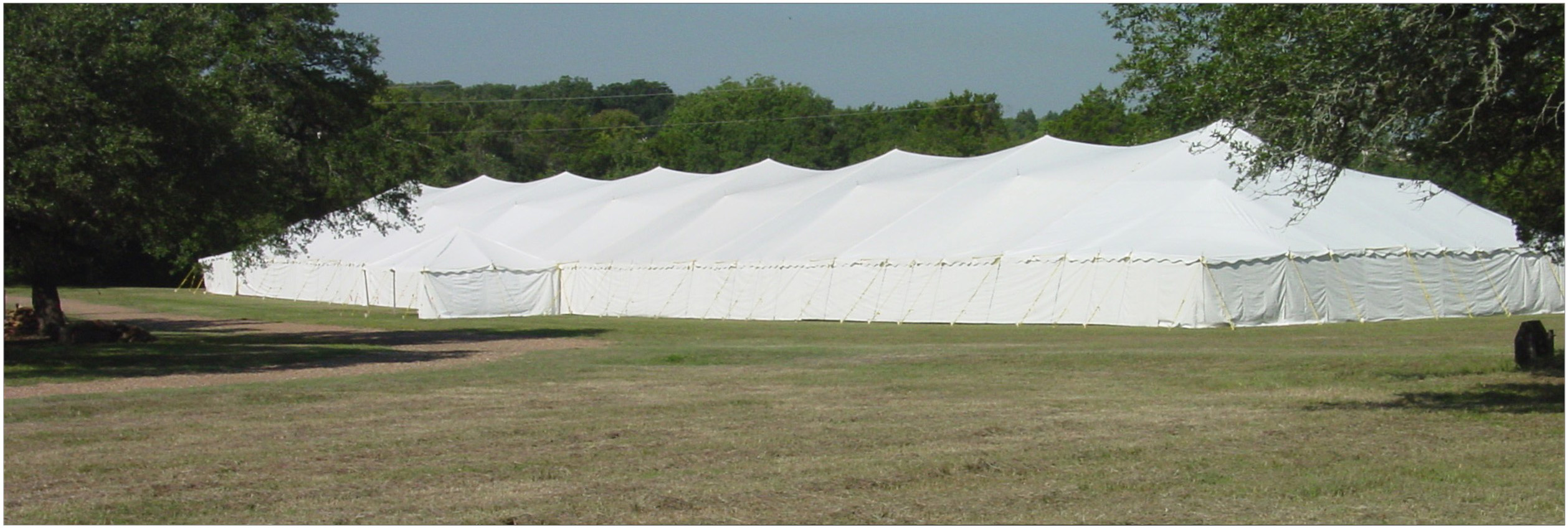 large tradional pole type party tents